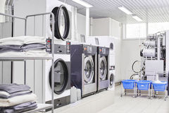 Washing machine. In dry cleaning Royalty Free Stock Images