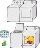 Washing Machine and Dryer Stock Images