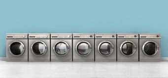 Washing Machine Empty Row Stock Photo