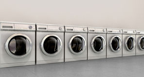 Washing Machine Empty Row Stock Images
