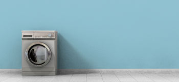 Washing Machine Empty Single Stock Image