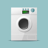 Washing machine flat vector Royalty Free Stock Photos