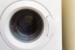 Washing machine with the front loading Stock Image