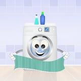 Washing machine. Funny illustration of washing machine Stock Image