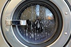 Washing machine glass door Stock Photography
