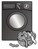 Washing machine grayscale Stock Photo