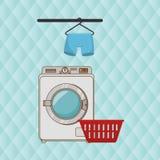 Washing machine hang tshirt detergent Royalty Free Stock Photo