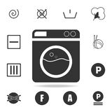 Washing machine icon. Detailed set of laundry icons. Premium quality graphic design. One of the collection icons for websites, web. Design, mobile app on white Stock Image