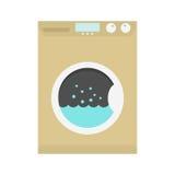 Washing machine icon. Isolated on white background. flat design modern vector illustration Stock Images