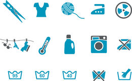 Washing machine Icon Set Royalty Free Stock Images