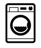 Washing machine icon Stock Images