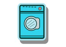 Washing machine icon vector with flat design style. For background Royalty Free Stock Photos