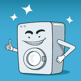 Washing machine illustrated character Royalty Free Stock Photos