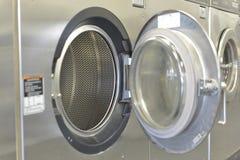 Washday Washing Machiine. Washing machine with interesting focus on the inside of the machine Royalty Free Stock Image