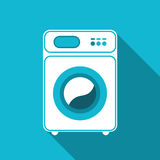 Washing machine isolated. Front view, close-up Royalty Free Stock Photo