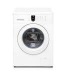 Washing machine isolated on white Royalty Free Stock Photography