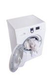 The washing machine isolated on white background Stock Image