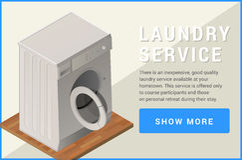 Washing machine isometric flat vector Stock Photography