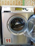 Washing machine in Laundromat Royalty Free Stock Photography