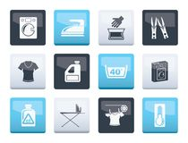 Washing machine and laundry icons over color background. Vector illustration vector illustration