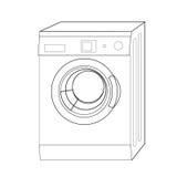 Washing machine line. Illustration washing machine for design royalty free illustration