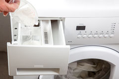 Washing machine prepare Stock Image
