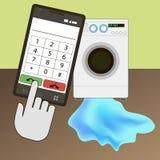 Washing machine repair Royalty Free Stock Images