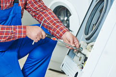 Washing machine repair Stock Photography