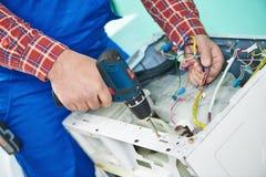 Washing machine repair Stock Photos