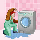 WASHING MACHINE REPAIRER Stock Image