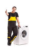 Washing machine repairman Stock Photography