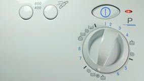 Washing machine. Setting Program On A Washing Machine Close Up. Setting Program On A Washing Machine Close Up stock video footage
