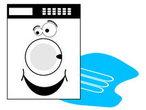 Washing machine with smiley Royalty Free Stock Photography