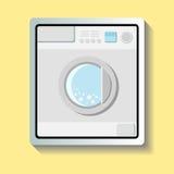 Washing Machine Sticker. Simple washing machine on the yellow background Royalty Free Stock Photo