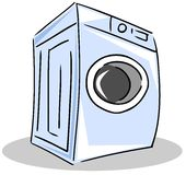 Washing machine stylized illustration. Image representing an isolated stylized washing machine. An image that can be used in all project about this household Stock Images