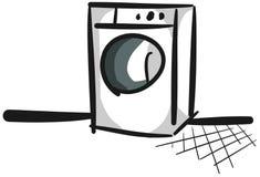 Washing machine stylized isolated Royalty Free Stock Images