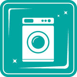 Washing machine symbol Royalty Free Stock Images