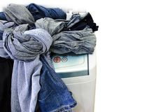 Washing machine tangle heavy cloths Stock Photography