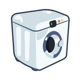 Washing machine vector cartoonish illustration. Cartoonish illustration of washing machine made in vector Stock Photo