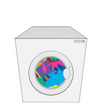 Washing machine vector illustration Royalty Free Stock Image