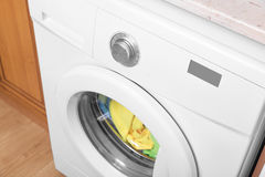 Washing machine view from above. Royalty Free Stock Photo