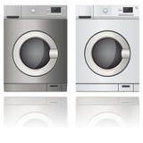 Washing machine. Set. Vector 3d illustration isolated on white background vector illustration