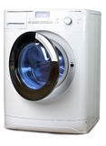 The washing machine on a white background Stock Image