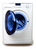 The washing machine on a white background Royalty Free Stock Photos