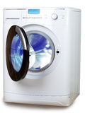 The washing machine on a white background Stock Images