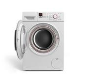 Washing machine on white background 3D illustration Stock Photography