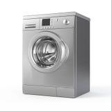 Washing machine. On white - 3d render royalty free illustration