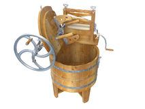 Washing Machines. Antique Washing Machines on white background. 3D image stock image