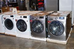 Washing Machines in Appliance Store Royalty Free Stock Photo