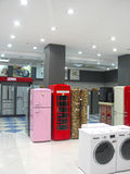 Washing machines in the form of a phone booth Stock Image